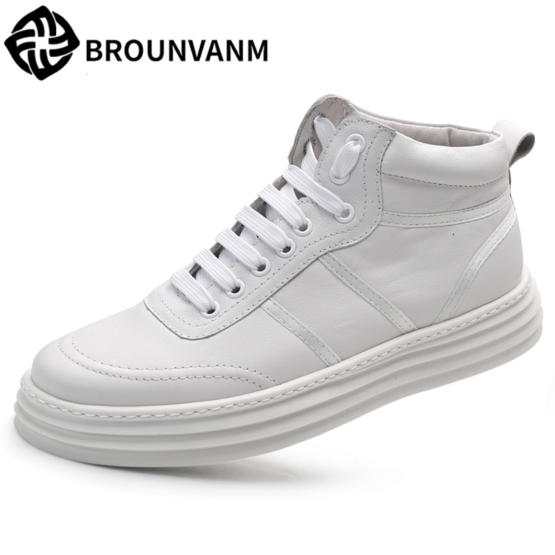 Mens fashion Genuine leather high top shoes youth casual boots men all-match cowhide autumn winter British retro breathableMens fashion Genuine leather high top shoes youth casual boots men all-match cowhide autumn winter British retro breathable