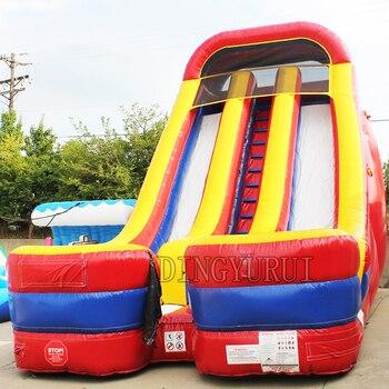 Tobogán inflable gigante para la venta, tobogán seco inflable, tobogán inflable comercial para adultos y niños