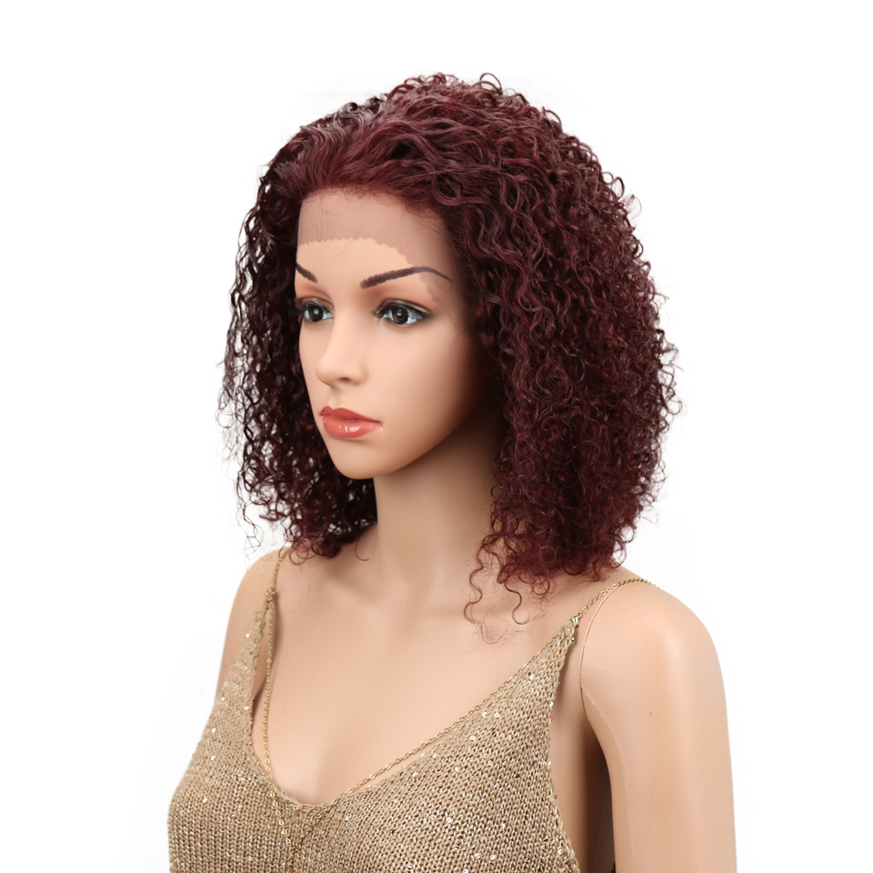 HTB1vTvfoMmTBuNjy1Xbq6yMrVXaQ Sleek Lace Front Human Hair Wigs For Black Women Brazilian Ombre Curly human hair Wig Wet and wavy Wig Curly Lace Front wig