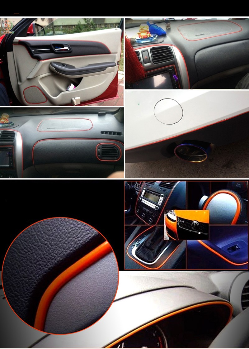 5m car interior exterior decoration chrome styling moulding trim strip uk stock ebay. Black Bedroom Furniture Sets. Home Design Ideas