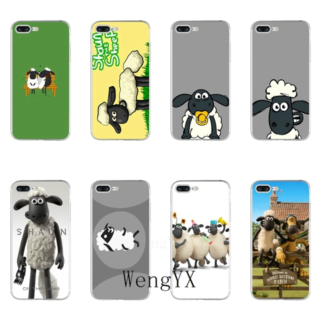 timeless design ac8c5 8e009 WengYX movie cute Shaun the Sheep silicone Soft phone case For Xiaomi Mi 6  6X A1 5 5s 5x mix max 2 Redmi Note 4 5 5A pro plus