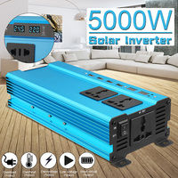 Inverter 12V 220V 5000W Peak Car Power Inverter Voltage Transformer Converter 12 220 Charger Solar Inversor 12V 220V LCD Screen