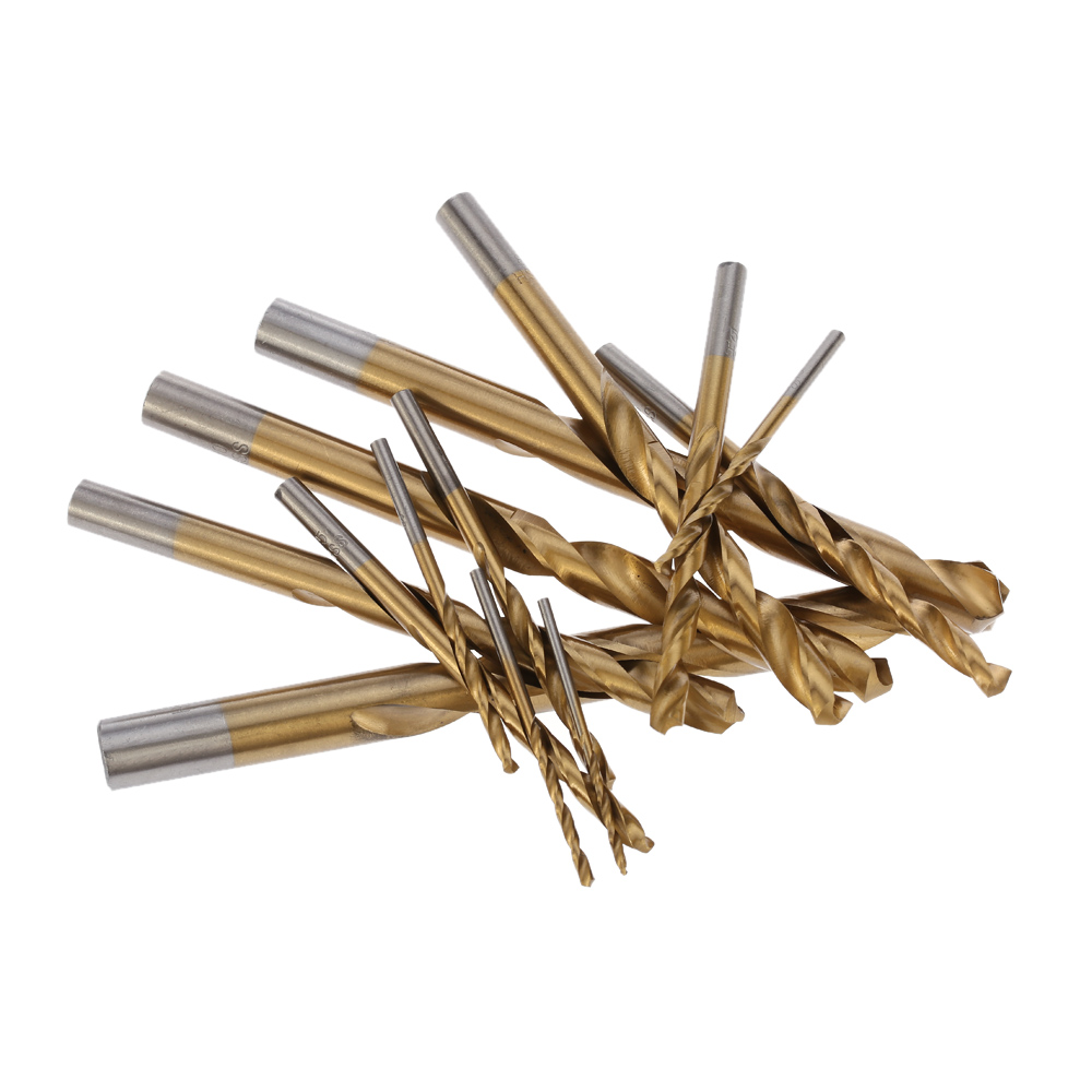 13pcs1.5-6.5mm Twist Drill Bit Set High-speed Steel Titanium Plated Drill Bits Woodworking Wood Metal Drilling Tool ferrament