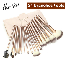18pc/set Beauty Eyeliner Foundation makeup set Brush Foundation Eye Shadows Lipsticks Powder makeup brushes set Tools Cosmetics