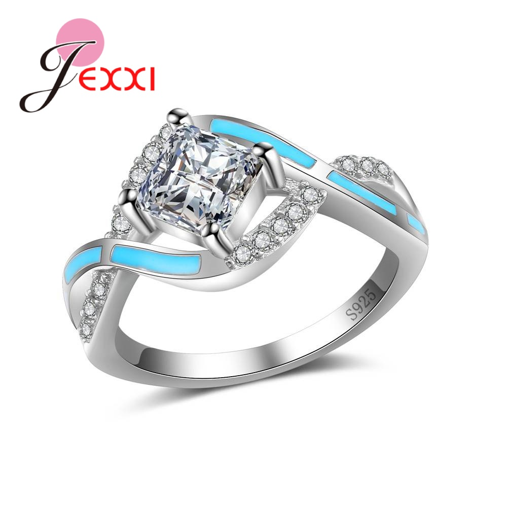 jexxi 925 sterling silver opal rings big promotions women. Black Bedroom Furniture Sets. Home Design Ideas
