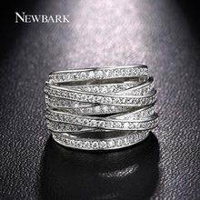 Newbark top nuevo antiguo mosaico de cristal de circón aaa color cruz de plata de múltiples capas de la vendimia doble x anillo de dedo de las mujeres de lujo bijoux