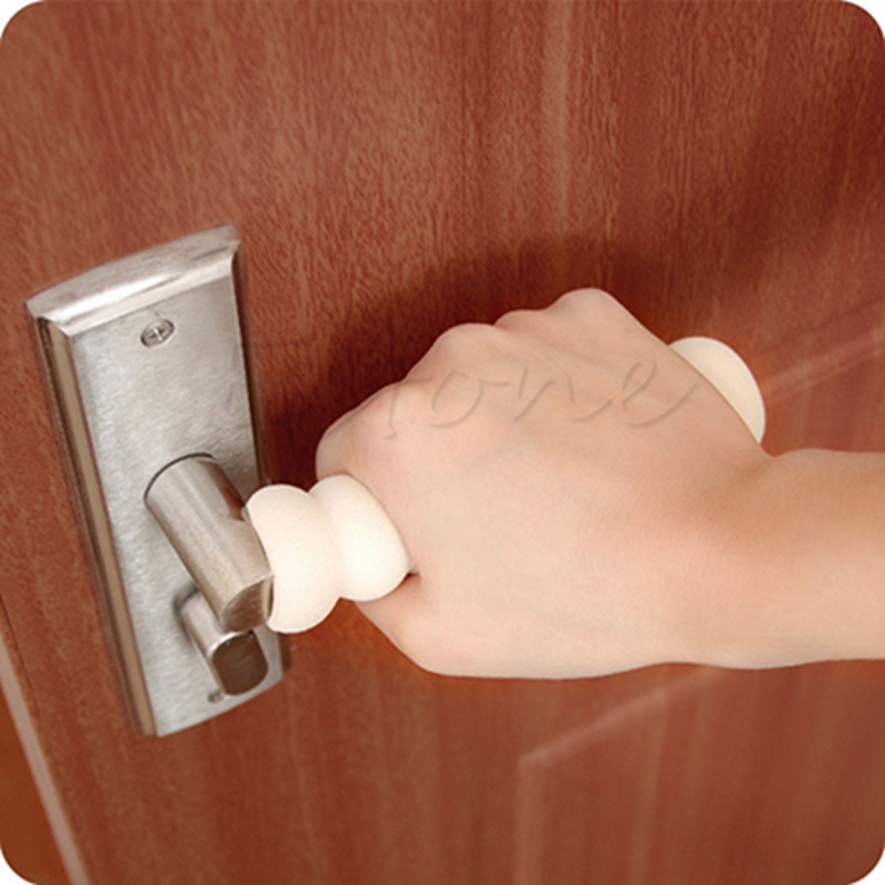 Möbel Teile 2 Pcs Sicherheit Hilfs Schutz Schutz Baby Sicherheit Shock Sicherheit Karte Gummi Tür Stopper Wand Protektoren Tür Griff Stoßstangen Möbel