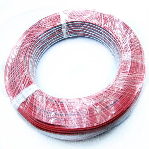 Кабель в ПВХ изоляции 22awg 100m 3pin луженая медь три цвета — красный, зеленый, белый