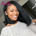 Full Lace Human Hair Bob Wigs Peruvian Straight Virgin Hair 8''-16'' Human Hair Bob Wigs Lace Front Short Wigs For Black Women