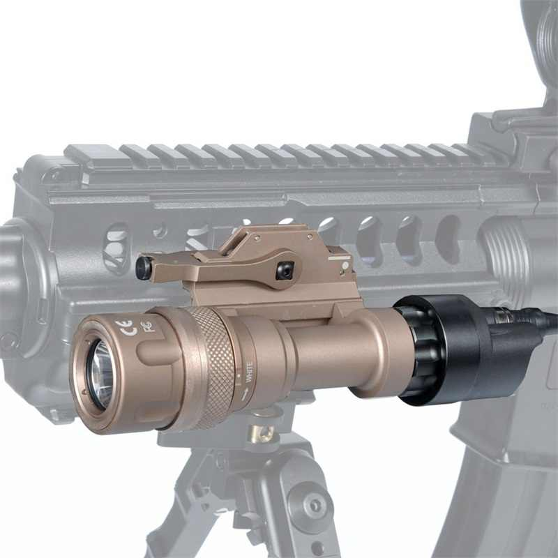 Linterna táctica mejorada M952 12V luz LED 400 lúmenes lámpara de caza arma luz a prueba de golpes y linterna impermeable para Rifle