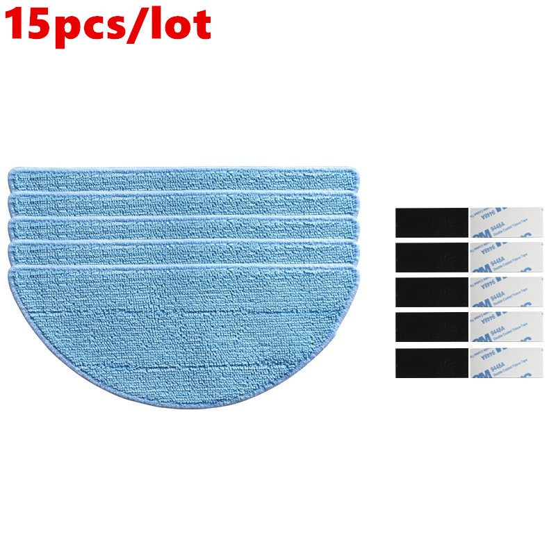 цена на 5* Mop Cloth +10* magic paste for chuwi ilife v5 ilife v5s pro ilife x5 V3+ V5s V3s v5pro v50 robot vacuum cleaner parts Mop