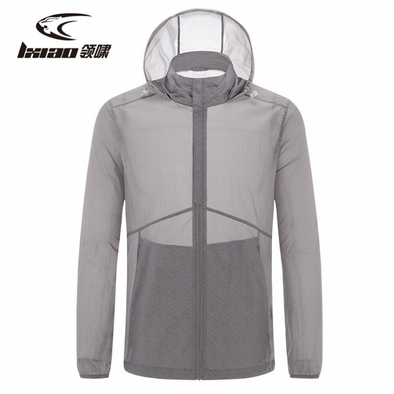 Ling Xiao Hiking Jackets For Men Caping Outdoor Long-Sleeve Clothing Rain Jacket Sun Protection Breathable Waterproof Coat Men