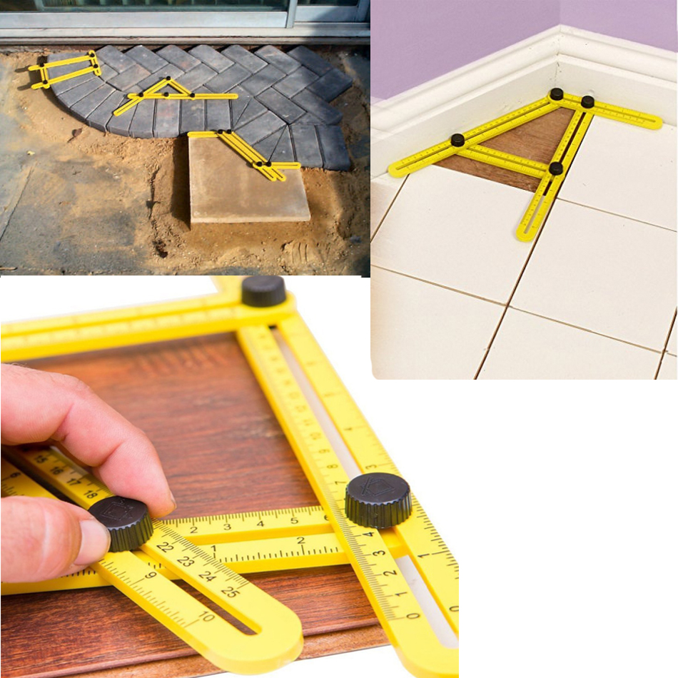 Angle measurement tool angleizer tile flooring template for Tile floor layout tool