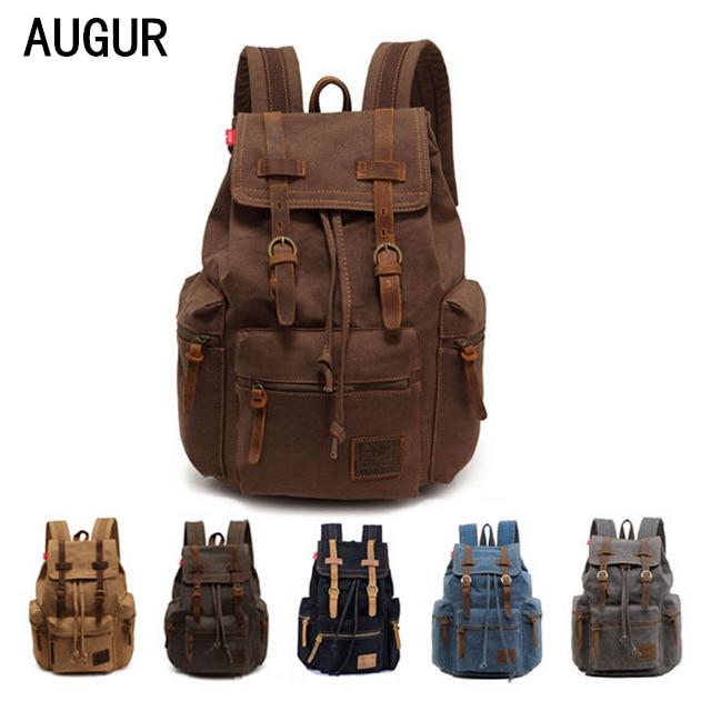 2016 Fashion Men Women Backpack Vintage Canvas Backpack School Bag Men S Travel Bags Large Capacity