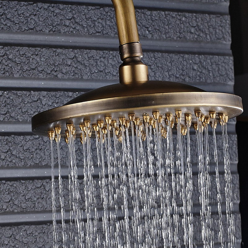 Antique Brass Round Showerhead Rainfall Shower Head Bathroom Rain Shower Faucet Head Ksd241Antique Brass Round Showerhead Rainfall Shower Head Bathroom Rain Shower Faucet Head Ksd241