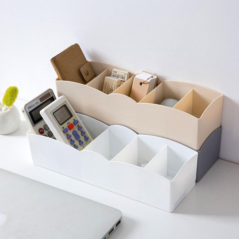 Storage-Box Socks Underwear Drawer Organizers Plastic Cosmetic-Finishing 5-Grids Bras