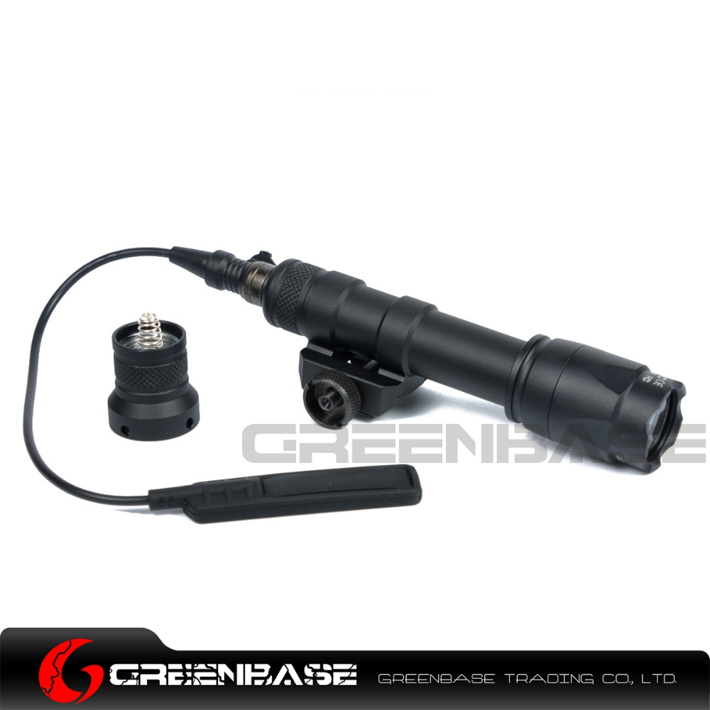 Greenbase Airsoft Tactical SF M600C Scout Lights LED Hunting Weapon Lights Flashtorch For M4 M16 With Remote Control greenbase tactical sf m951 scout light weapon light constant
