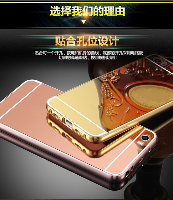Luxury Plating Aluminum Metal Mirror Back Cover Case for Xiaomi Mi 2 3 4 Max Redmi Note 2 2S 2A 3 3S Pro 4 4S 5