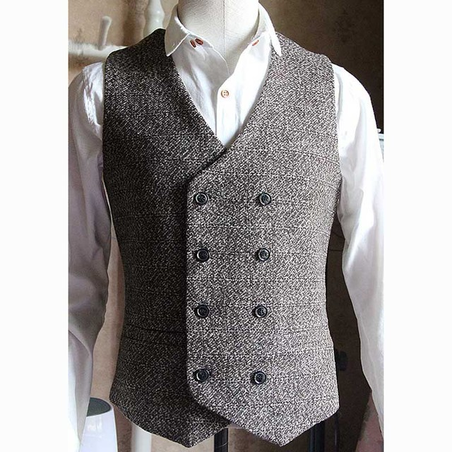 From Arrival Vest Wedding Dress Us48 Formal new Quality English Suit 38Off In Vests 02 Breasted Waistcoat Men Double Man's Vintage High Style fgybY67