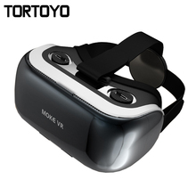 High Quality Smart MOKE VR CASE 3D VR Box Myopia 3D Glasses Virtual Reality Helmet for IOS Android 3.5-6 Inch Smartphone Gaming