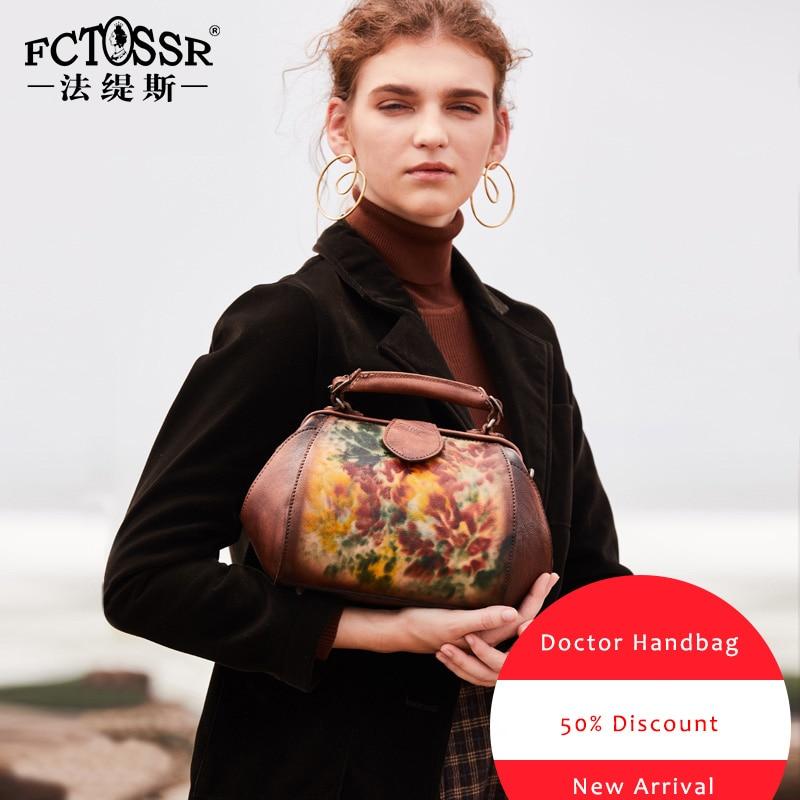 Autumn Latest Frame Handbag Women Shoulder Sling Bags Handmade Genuine Leather Messenger Lady Crossbody Bag Retro Doctor Handbag-in Shoulder Bags from Luggage & Bags    3