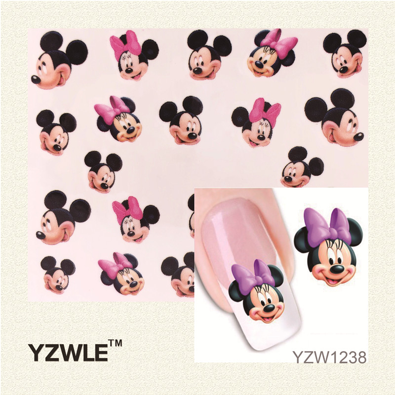 YZWLE 1 Sheet New Design 3D Water Transfer Printing Nail Art Sticker Decals Cute Panda DIY Nail Decoration Styling Tools стоимость
