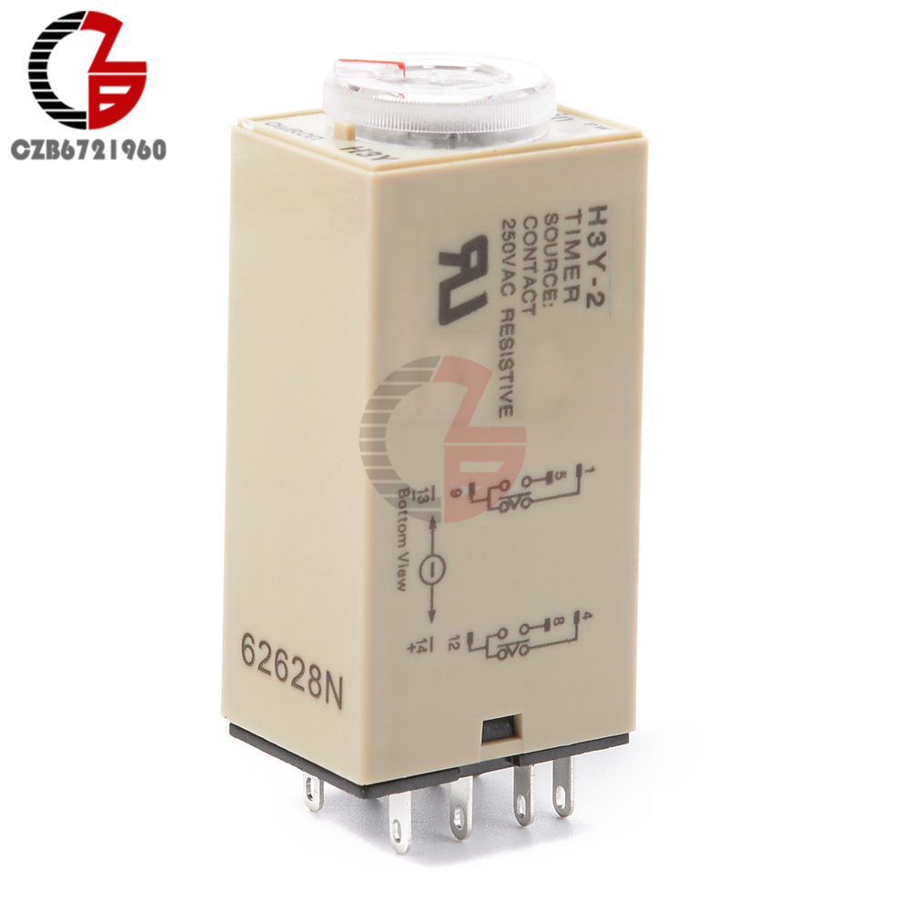H3y 2 Ac 110v Time Delay Relay Module Timer Switch Timing Circuit Breaker Interface Units 6 1