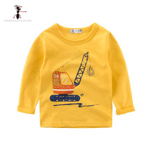 Kung Fu Ant Brand New Boys T Shirt Long Sleeve Kids T-shirts Boy Spring Car Printed Children T-shirts For Baby Boy Tops&Tee 2~10
