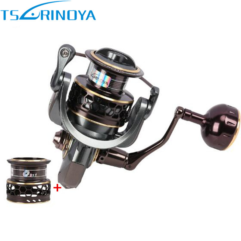 Tsurinoya Spinning Fishing Reel Jaguar 4000 9+1BB/5.2:1 Double Spool Max Darg 7Kg Carretilha De Pesca Fishing Reels Feeder Coil tsurinoya fs3000 fishing spinning reel 9 1bb 5 2 1 metal spools fishing lure reels max drag 7kg carretilha de pesca direita