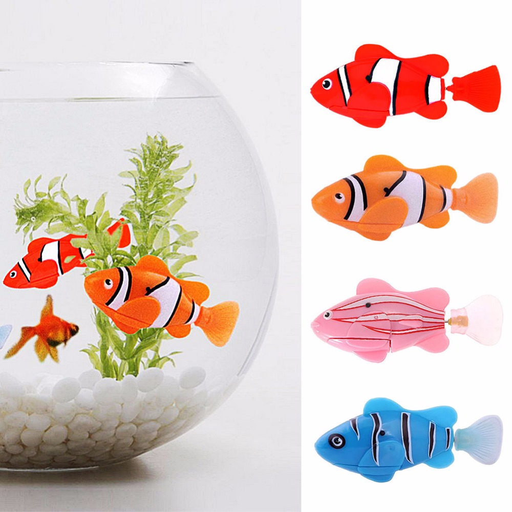5 Pieces Swim Electronic Fish Activated Battery Powered Pet Toy Fish Robotic Pets For Fishing Tank Decorating Fish Bath Toys