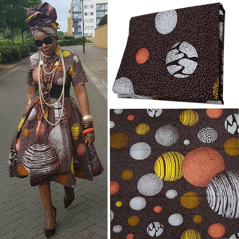 populární 6yards skutečný opravdový blok vosk 100% bavlna batika kvalitní africké tisky tkanina design tištěný ankara zaručena A805