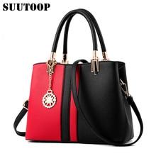 Frauen Tasche Nähen Farbe Handtaschen Berühmte Marken Designer Mode Pu-leder Weibliche Umhängetaschen Bolsa Feminina