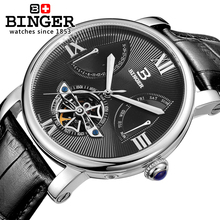 2017 Swiss Men Watch Automatic Mechanical Binger Luxury Brand Relogio Masculino Wrist Watches Male Sapphire Men's Watch BG-0408