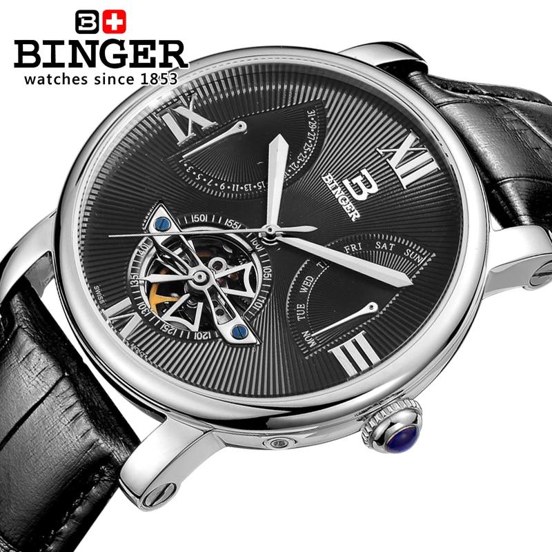 c59f86cbe4735 Suíça Binger Relógio Mecânico Automático Dos Homens de Luxo Da Marca Relogio  masculino Relógios de Pulso Masculino Relógio dos homens de Safira BG-0408