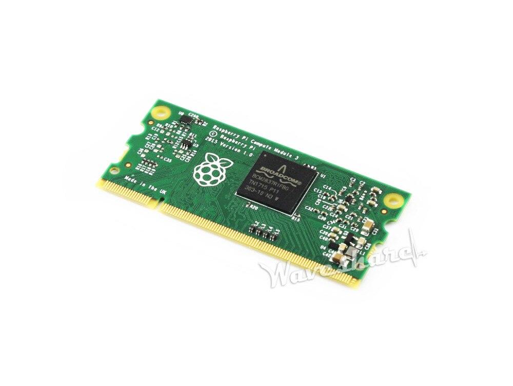 Module de calcul 3 Lite 1 GB RAM 1.2 GHz bras Quad-core Cortex-A53 Raspberry Pi 3 facteur de forme Flexible sans Flash eMMC