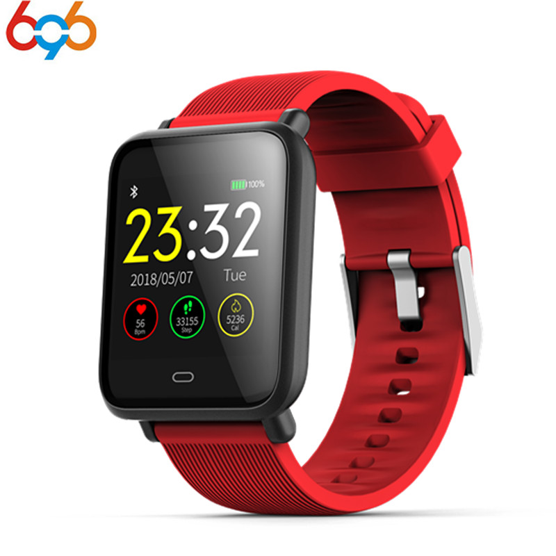 696 Smart watch Q9 Waterproof IP67 fitness tracker Heart rate/blood pressure Bluetooth 4 smartband Pk xiaomi mi band 2 meanit m5