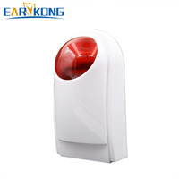 NEW Earykong 433MHz Wireless outdoor alarm strobe siren flash, Only for G90B (Plus) alarm system waterproof, built in battery