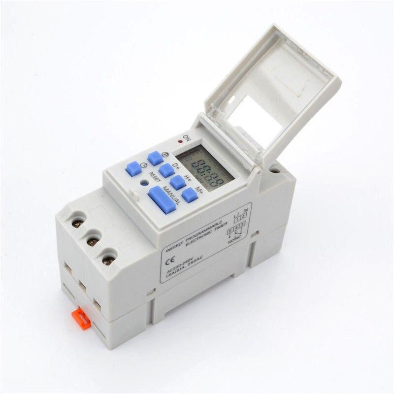THC15A Digital Timer Switch Relay Control LCD DIN Programmable DC12V/DC24V/AC110V/AC220V LB88THC15A Digital Timer Switch Relay Control LCD DIN Programmable DC12V/DC24V/AC110V/AC220V LB88