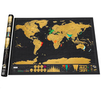 Free Shipping 1Piece In Stock Deluxe Scratch Map Deluxe Scratch World Map 82 5 X 59