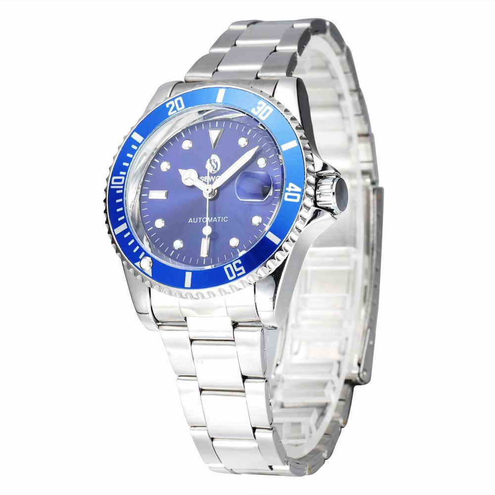 واضح الهيكل العظمي الجوف العلامة التجارية تصميم ساعة الموضة الميكانيكية الرجال الفاخرة الذكور الساعات الأعمال المعصم الجيش الرياضة ساعة للهدية