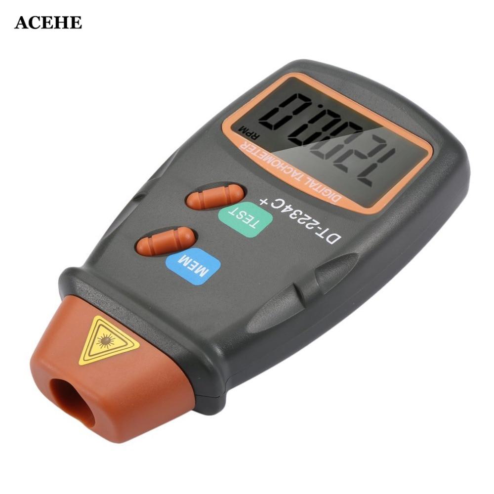 ACEHE New Arrive Digital Laser Photo Tachometer Non Contact RPM Tach Digital Laser Tachometer Speedometer Speed Gauge Engine dt2234c digital laser rpm tachometer non contact measurement tool