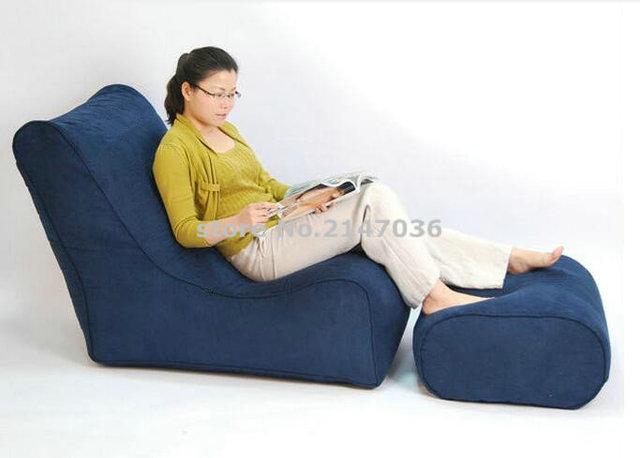 Navy Blue Modern New Design High Quality Bean Bag Chair Seat Sofa Stools