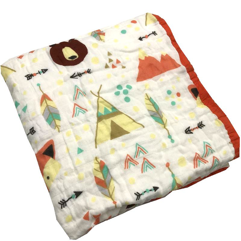 Six Layers 100 Cotton Muslin Baby Blanket Swaddle For Newborn Super Comfy Bedding Blankets Swaddle Wrap Babies Bath Towel in Blanket Swaddling from Mother Kids