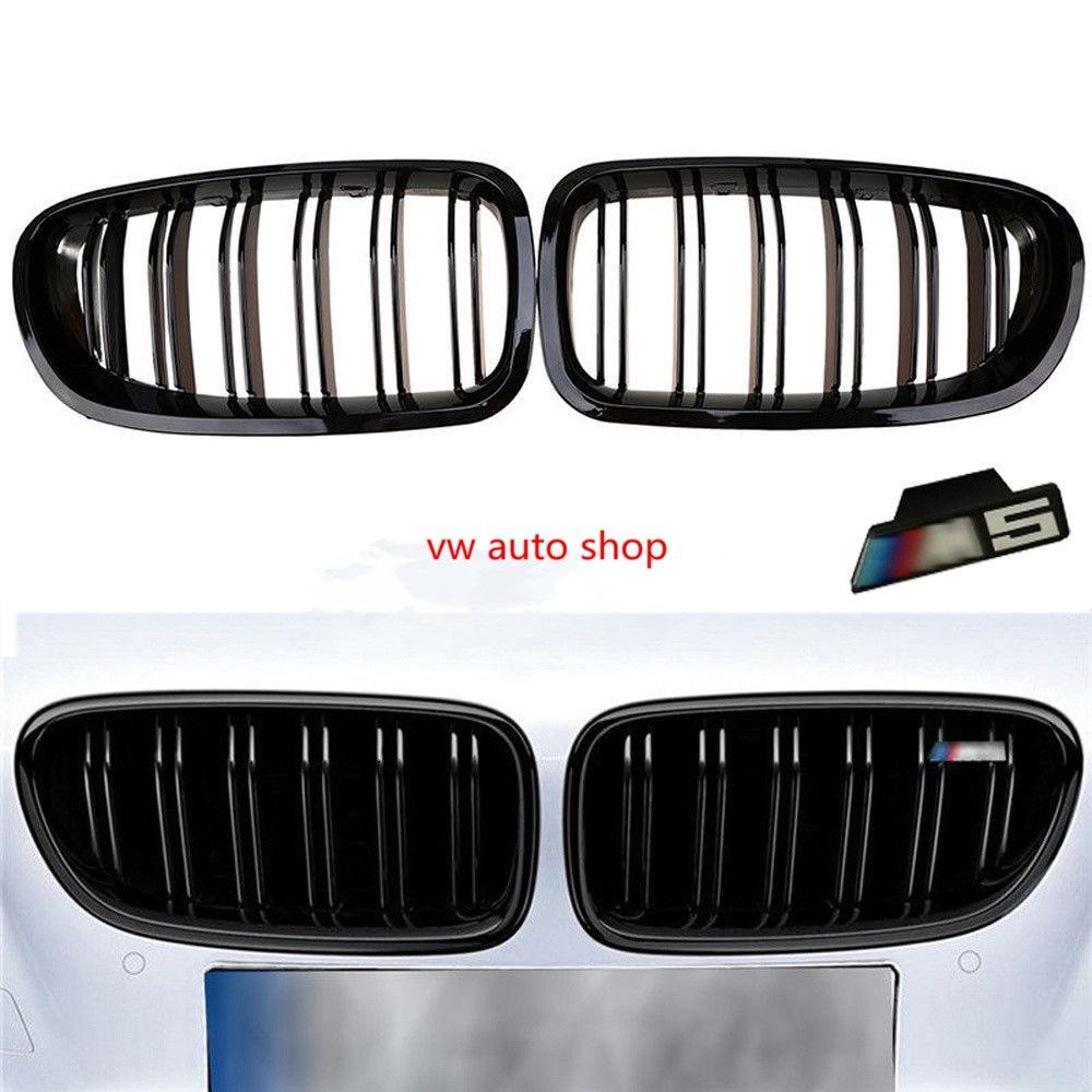 Gloss Black Front Rene Griglia Per BMW F10 F18 M5 Serie 5 528i 535i 2011-2016 F10 Serie 5 520i 523i 525i 530i 535i 2010-2016