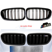 Gloss Black Front Kidney Grille For BMW F10 F18 M5 5 Series 528i 535i 2011 2016