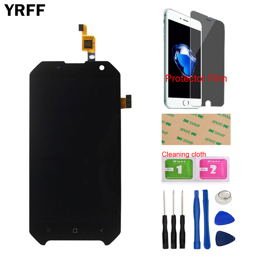 Mobile LCD Display Touch Screen Digitizer Assembly Sensor For Blackview BV6000 BV6000S Tools + Free Protecotr Film + Adhesive