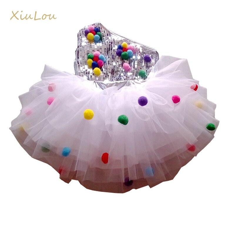 Kinder Dance Bühne Kostüm Für Mädchen Moderne Kinder Jazz Dance Kostüme Pailletten Kleidung Für Salsa Zeitgenössische Tanz Kleid Mädchen