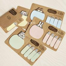 Макарон цвет memo мультипликационные наклейки животных pad украшения