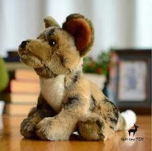 Plush African Wild Dogs Doll Toy Simulation  Hound  Cute Dog Stuffed Animals  Kids Toys