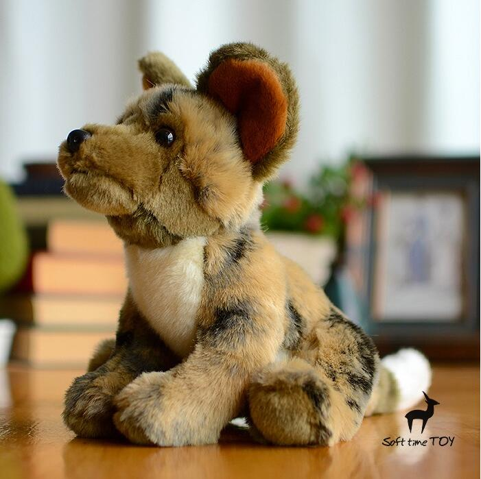 Plush African Wild Dogs Doll Toy Simulation Hound Cute Dog Stuffed
